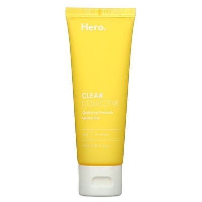 Купить Hero Cosmetics Clear Collective, Clarifying Prebiotic Moisturizer, 2.36 fl oz (70 ml)