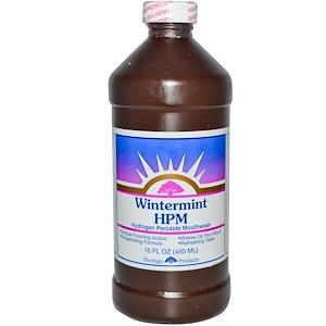Хэритадж Продактс, HPM, Hydrogen Peroxide Mouthwash, Wintermint, 16 fl oz (480 ml) отзывы