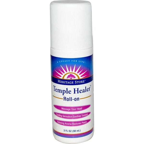 Heritage Store, Temple Healer, Roll-On, 3 fl oz (90 ml) (Discontinued Item)
