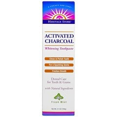 Heritage Store, Activated Charcoal Whitening Toothpaste, Fresh Mint, 5.1 oz (145 g)