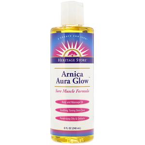 Хэритадж Продактс, Arnica Aura Glow, Body and Massage Oil, Sore Muscle Formula, 8 fl oz (240 ml) отзывы