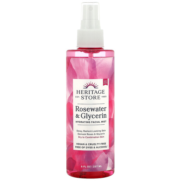 Heritage Store, Rosewater & Glycerin, 8 fl oz (237 ml)