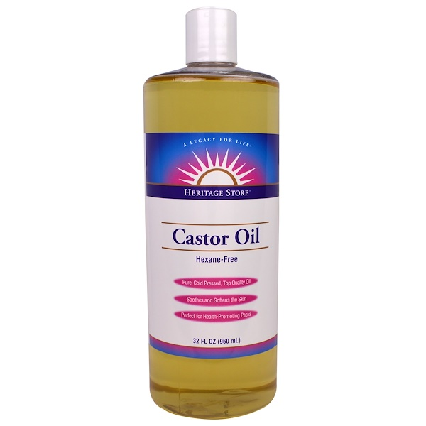 Heritage Store, Castor Oil, 32 fl oz (960 ml)