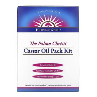 Heritage Store, The Palma Christi Castor Oil Pack Kit, 4 Piece Kit