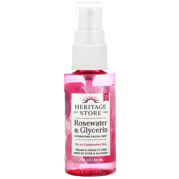 Heritage Store, Rosewater & Glycerin, 2 fl oz (59 ml)
