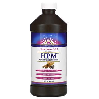 Heritage Store, HPM, Hydrogen Peroxide Mouthwash, Cinnamon Stick, 16 fl oz (480 ml)