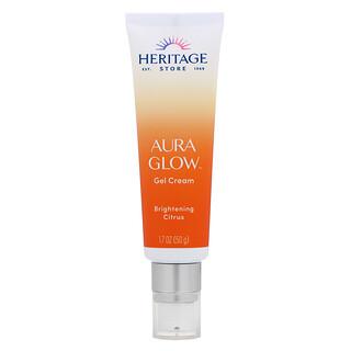 Heritage Store, Aura Glow Gel Cream, Brightening Citrus, 1.7 oz (50 g)