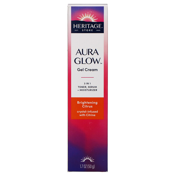Aura Glow Gel Cream, Brightening Citrus, 1.7 oz (50 g)