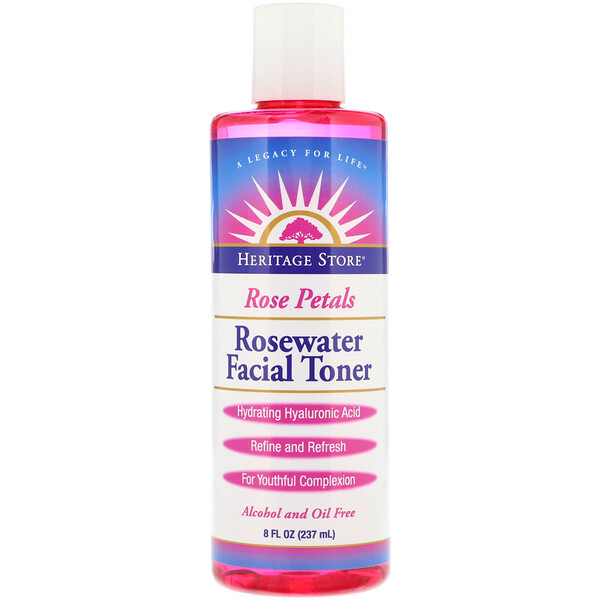Rosewater Facial Toner, Rose Petals, 8 fl oz (237 ml)