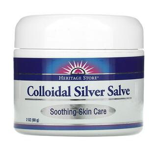 Heritage Store, Colloidal Silver Salve, 2 oz (60 g)