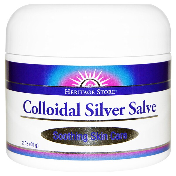 Heritage Store, Colloidal Silver Salve, 2 oz (60 g)