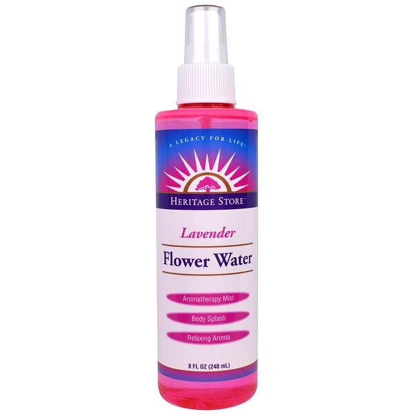 Heritage Store, Flower Water, Lavender, 8 fl oz (240 ml)