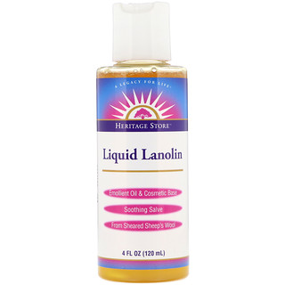 Heritage Store, Liquid Lanolin, 4 fl oz (120 ml)