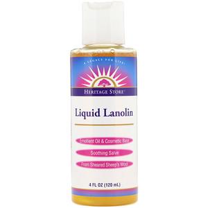 Хэритадж Продактс, Liquid Lanolin, 4 fl oz (120 ml) отзывы