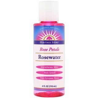 Heritage Store, Rosewater, Aromatherapy Water, Rose Petals, 4 fl oz (118 ml)