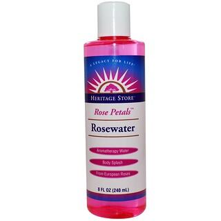 Heritage Store, Rosewater, Aromatherapy Water, Rose Petals, 8 fl oz (240 ml)