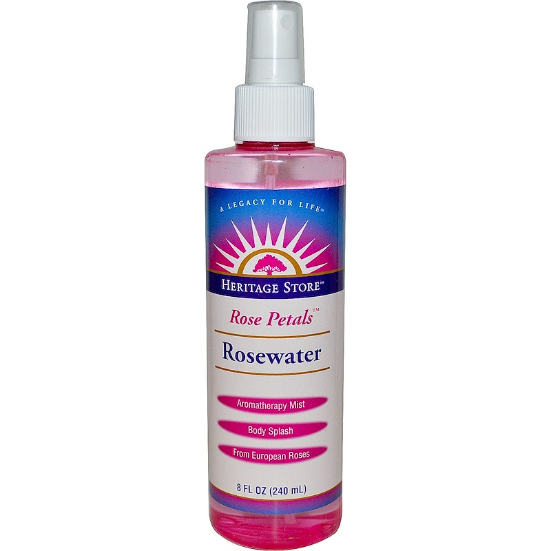 Rosewater, Atomizer Mist Sprayer, Rose Petals, 8 fl oz (240 ml)