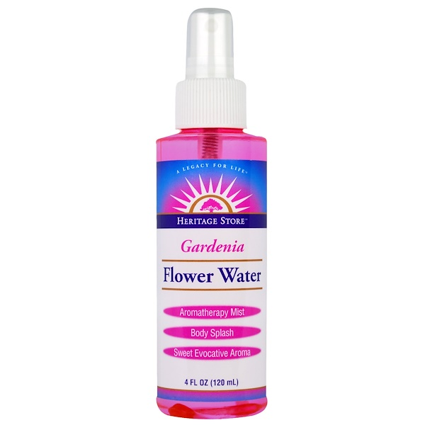 Heritage Store, Gardenia, Flower Water, Atomizer Mist Sprayer, 4 fl oz (120 ml) (Discontinued Item)