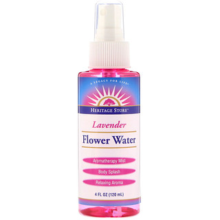 Heritage Store, Flower Water, Lavender, 4 oz (120 ml)
