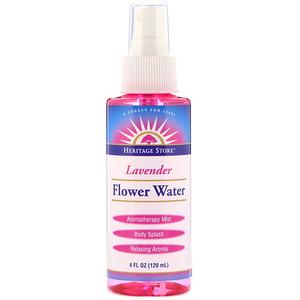 Хэритадж Продактс, Flower Water, Lavender, 4 oz (120 ml) отзывы покупателей