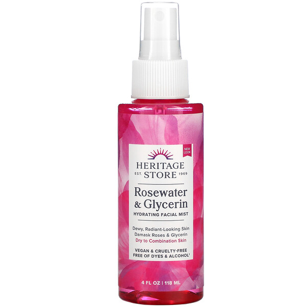 Heritage Store, Rosewater & Glycerin, 4 fl oz (118 ml)