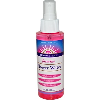 Heritage Store, Flower Water, Jasmine, 4 fl oz (120 ml)