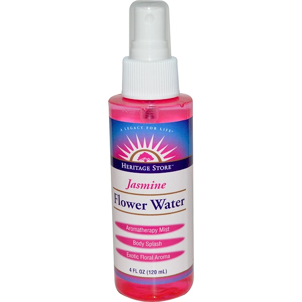 Heritage Store, Flower Water, Jasmine, 4 fl oz (120 ml) (Discontinued Item)