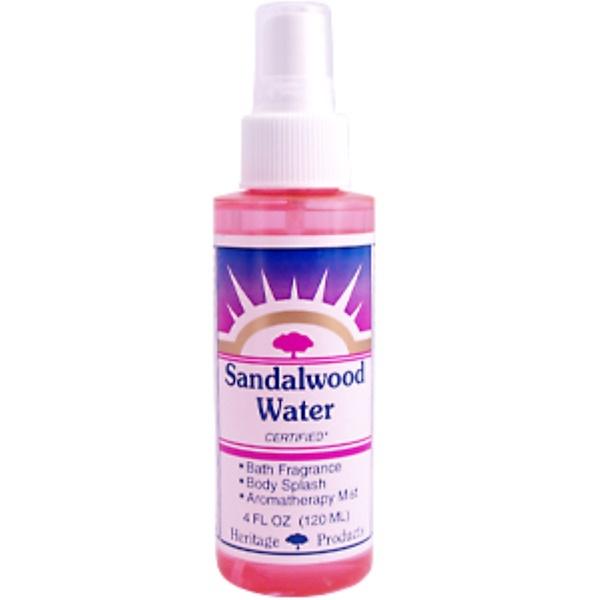 Heritage Store, Sandalwood Water, 4 fl oz (120 ml) (Discontinued Item)