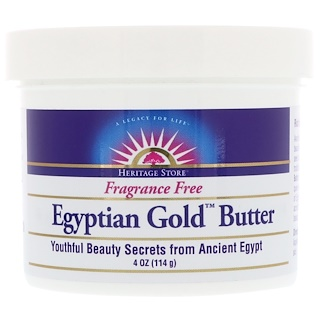 Heritage Store, Egyptian Gold Butter, Fragrance Free, 4 oz (114 g)
