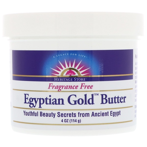 Heritage Store, Egyptian Gold Butter, Fragrance Free, 4 oz (114 g) (Discontinued Item)