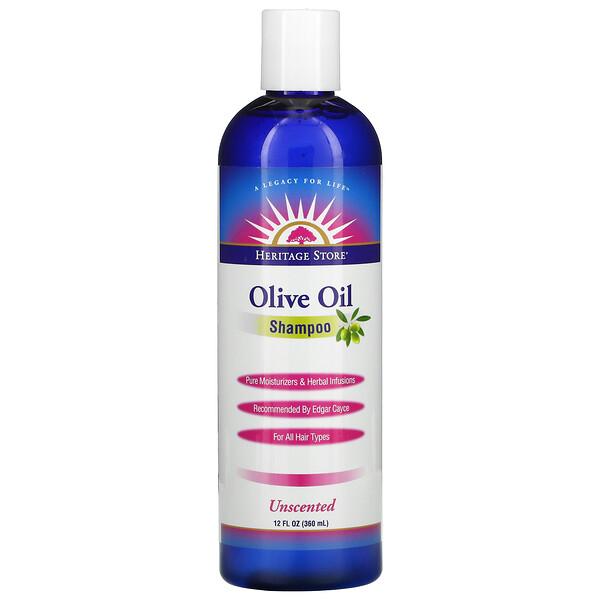 Heritage Store, Original, Olive Oil, Unscented Shampoo, 12 fl oz