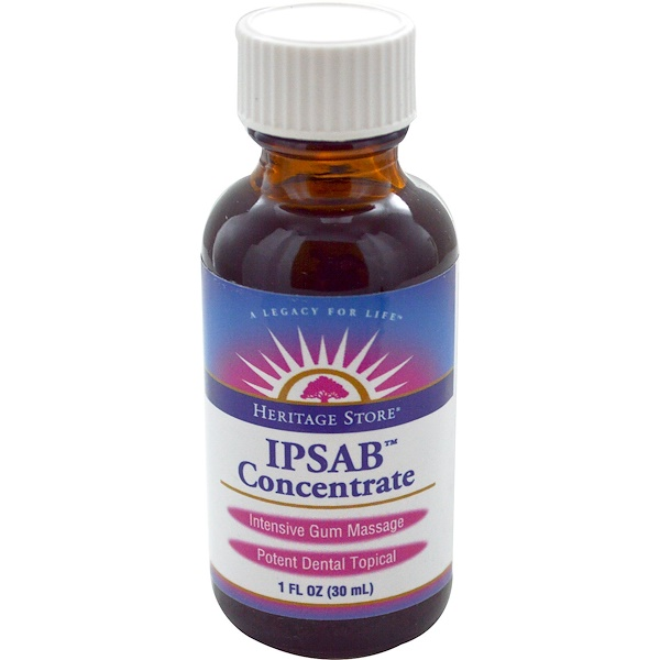 Heritage Store, IPSAB Concentrate, Gum Treatment, 1 oz (30 ml) (Discontinued Item)