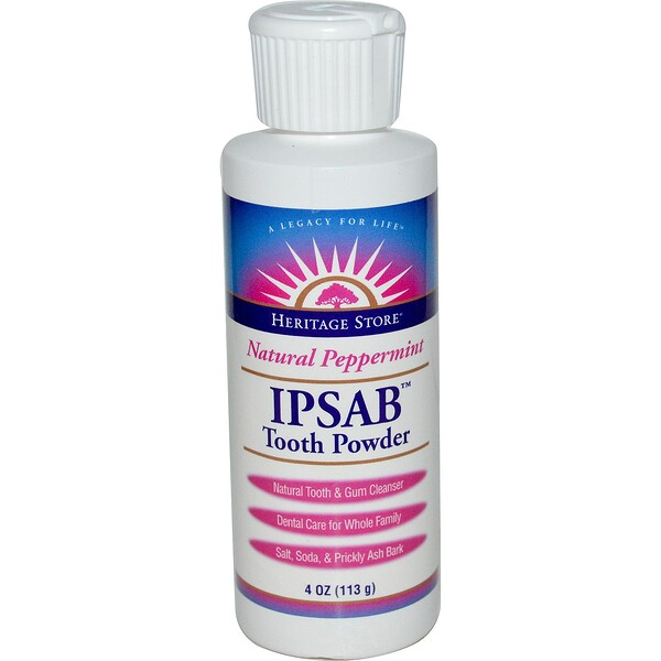 IPSAB Tooth Powder, Natural Peppermint, 4 oz (113 g)