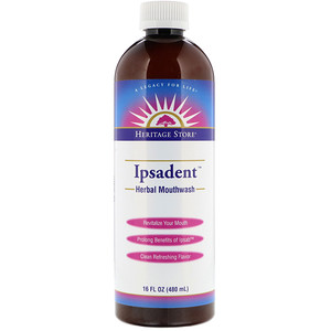 Хэритадж Продактс, Ipsadent, Herbal Mouthwash, 16 fl oz (480 ml) отзывы
