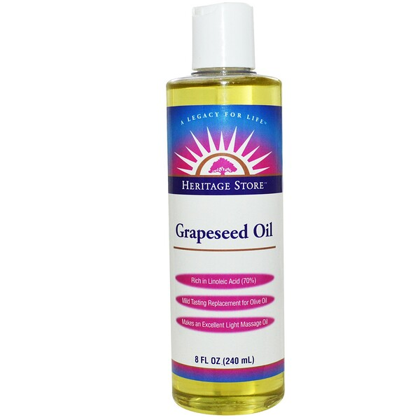 Grapeseed Oil, 8 fl oz (240 ml)