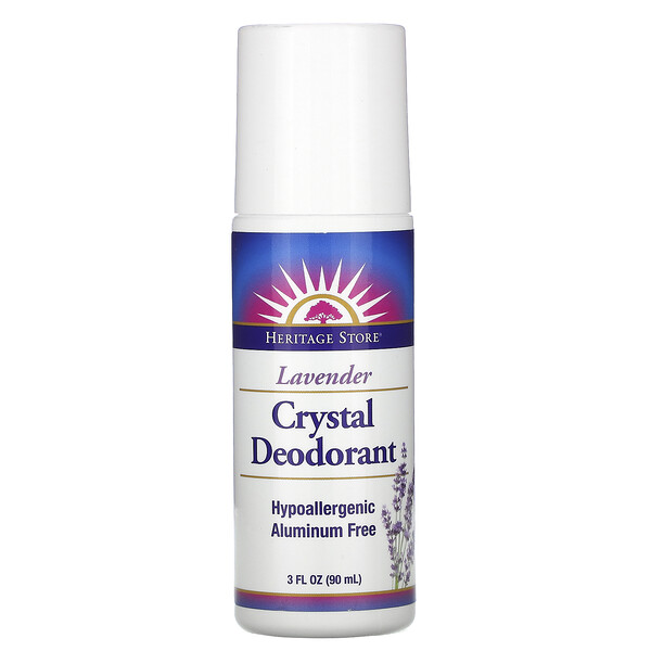 Heritage Store, Crystal Deodorant, Lavender, 3 fl oz (90 ml)