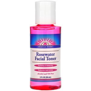 Хэритадж Продактс, Rosewater Facial Toner, 2 fl oz (59 ml) отзывы покупателей