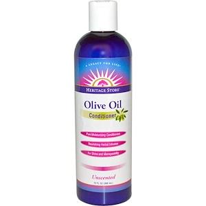 Хэритадж Продактс, Olive Oil Conditioner, Unscented, 12 fl oz (360 ml) отзывы покупателей