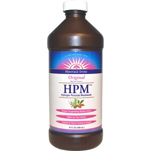 Хэритадж Продактс, HPM, Hydrogen Peroxide Mouthwash, Original, 16 fl oz (480 ml) отзывы покупателей