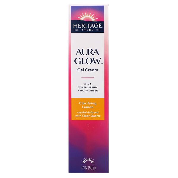 Aura Glow Gel Cream, Clarifying Lemon,  1.7 oz (50 g)