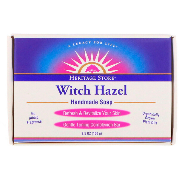 Heritage Store, Witch Hazel Handmade Soap, 3.5 oz (100 g)