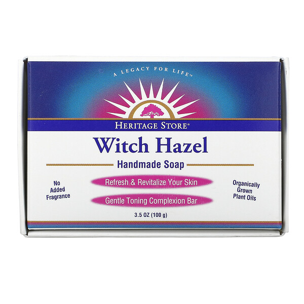 Heritage Store, Witch Hazel Handmade Soap, 3.5 oz (100 g) (Discontinued Item)