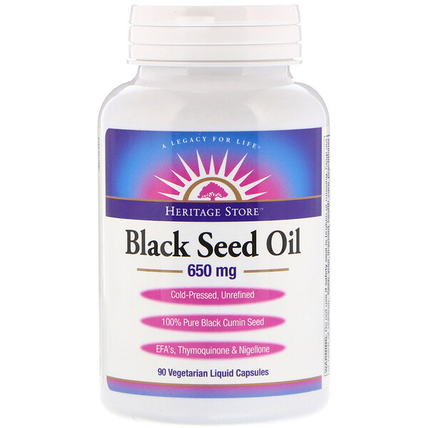 Black Seed Oil, 650 mg, 90 Vegetarian Liquid Capsules
