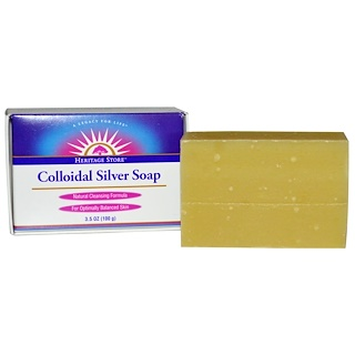 Heritage Store, Мыло Colloidal Silver Soap, 100 г