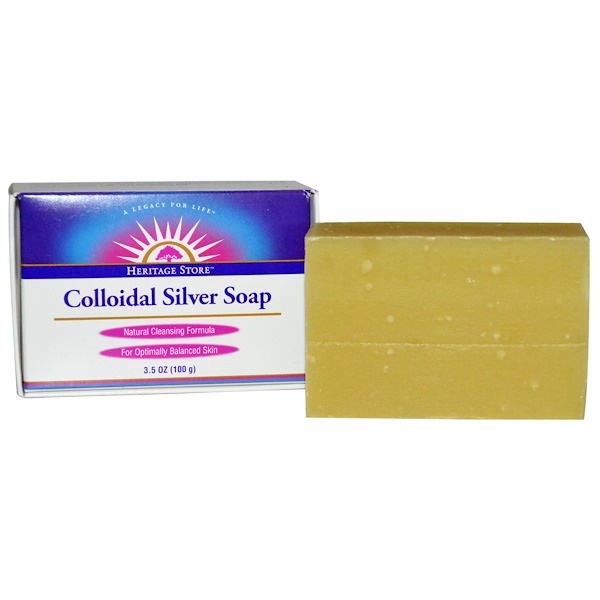 Colloidal Silver Soap, 3.5 oz (100 g)