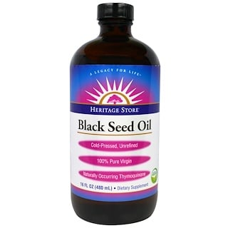 Heritage Store, Black Seed Oil, 16 fl oz (480 ml)