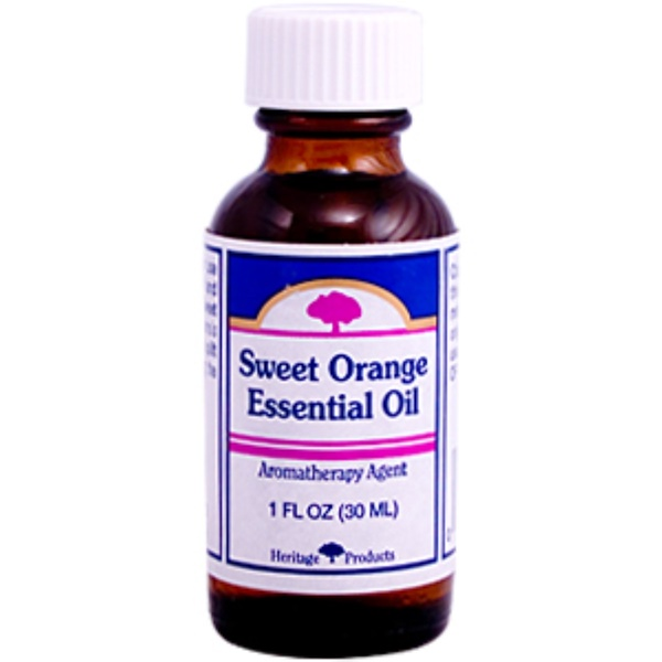Heritage Store, Sweet Orange Essential Oil, Aromatherapy Agent, 1 fl oz (30 ml) (Discontinued Item)
