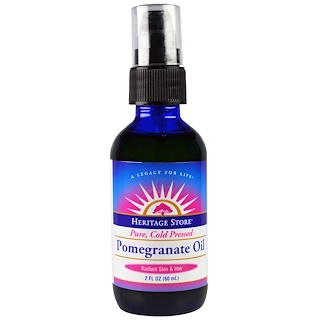 Heritage Store, Pomegranate Oil, Pure, Cold Pressed, 2 fl oz