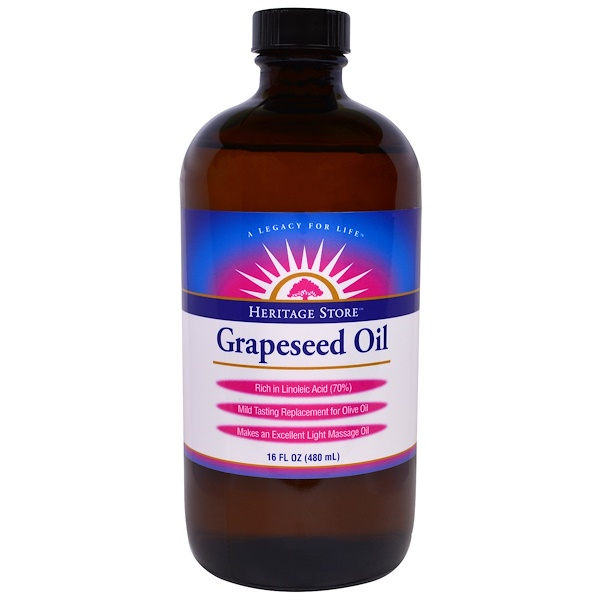 Heritage Store, Grapeseed Oil, 16 fl oz (480 ml) (Discontinued Item)