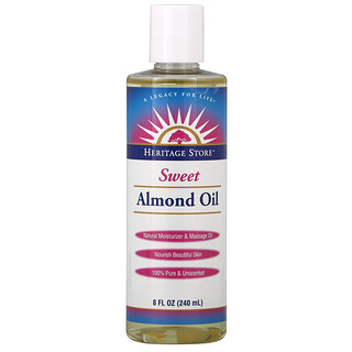 Heritage Store, Sweet Almond Oil, Unscented, 8 fl oz (240 ml)